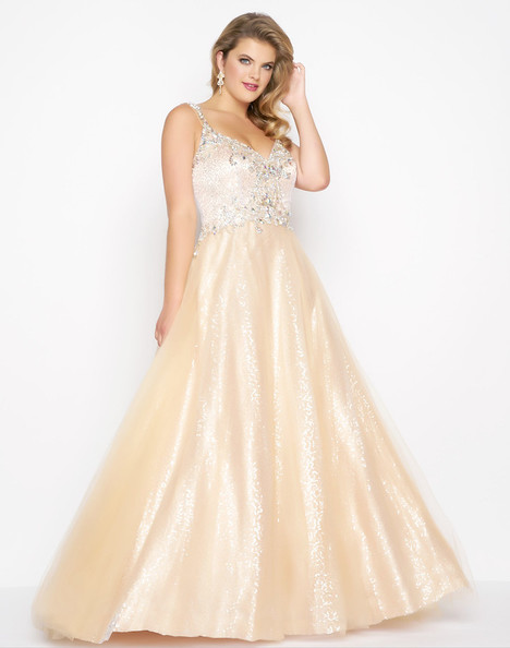 65037F (Nude + Silver) Prom                                             dress by Mac Duggal : Fabulouss