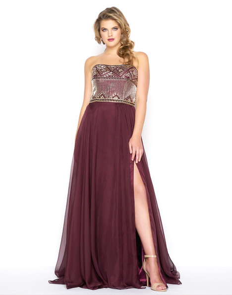 65980F (Burgundy) Prom                                             dress by Mac Duggal : Fabulouss
