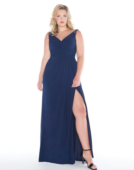 66388F (Navy) Prom                                             dress by Mac Duggal : Fabulouss