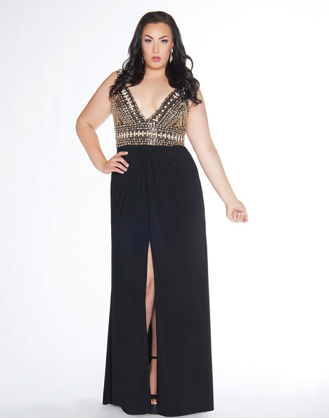 66408F (Black + Gold) gown from the 2018 Mac Duggal : Fabulouss collection, as seen on dressfinder.ca