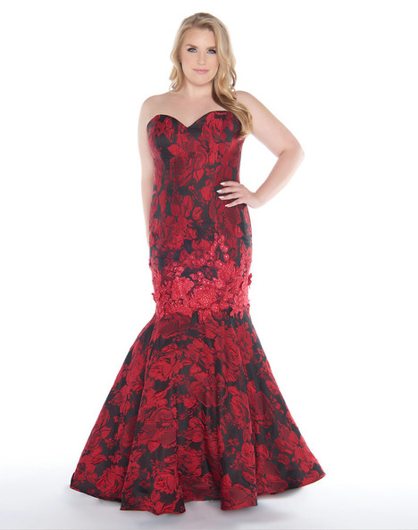 77381F (Red + Black) Prom dress by Mac Duggal : Fabulouss