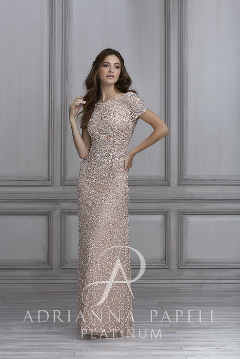 40104 Bridesmaids                                      dress by Adrianna Papell Platinum: Bridesmaids