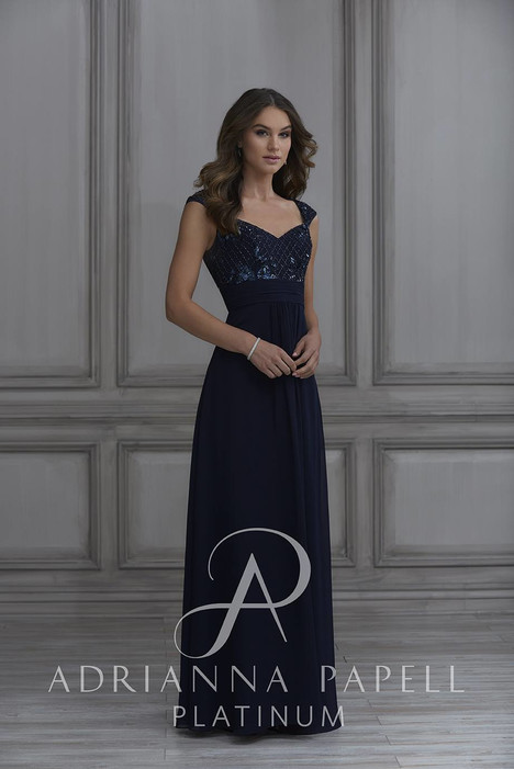 40131 Bridesmaids                                      dress by Adrianna Papell Platinum : Bridesmaids