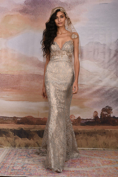 Caravan Wedding dress by Claire Pettibone: Couture