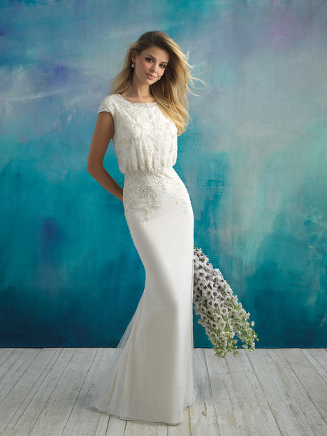 M593F Wedding                                          dress by Allure Bridals: Allure Modest