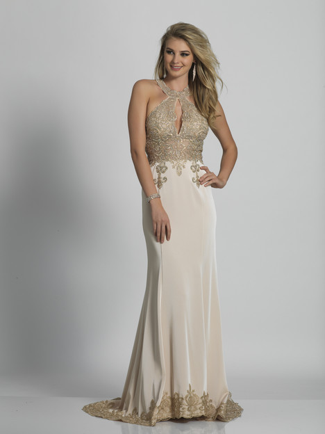 2325 (beige) Prom                                             dress by Dave & Johnny : Special Occasions