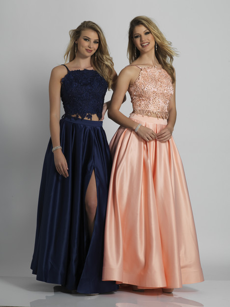 6394 (blush & navy) gown from the 2018 Dave & Johnny Special Occasions collection, as seen on dressfinder.ca