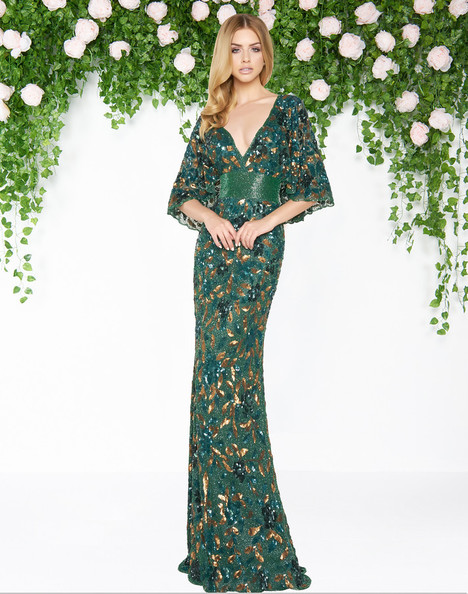 4574D (Bottle Green) gown from the 2018 Mac Duggal : Couture collection, as seen on dressfinder.ca