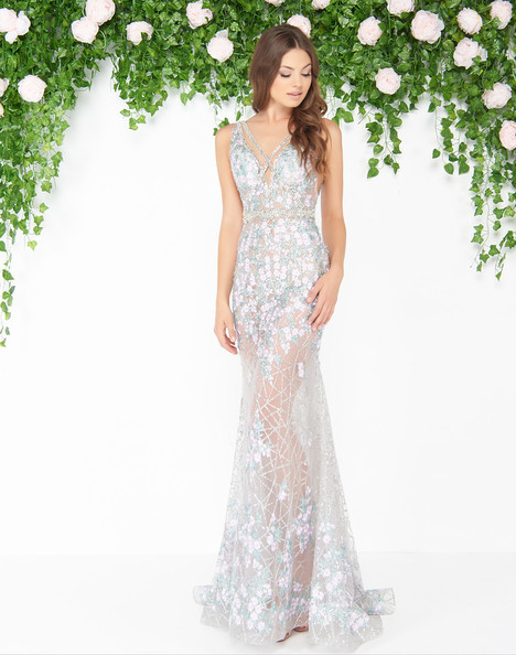 50416D (Silver Floral) gown from the 2018 Mac Duggal : Couture collection, as seen on dressfinder.ca