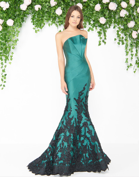 80761D (Emerald Black) Prom                                             dress by Mac Duggal : Couture