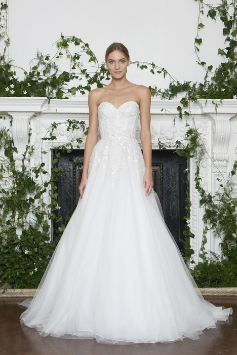 Princeton Wedding                                          dress by Monique Lhuillier