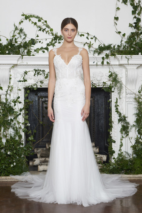September Wedding                                          dress by Monique Lhuillier