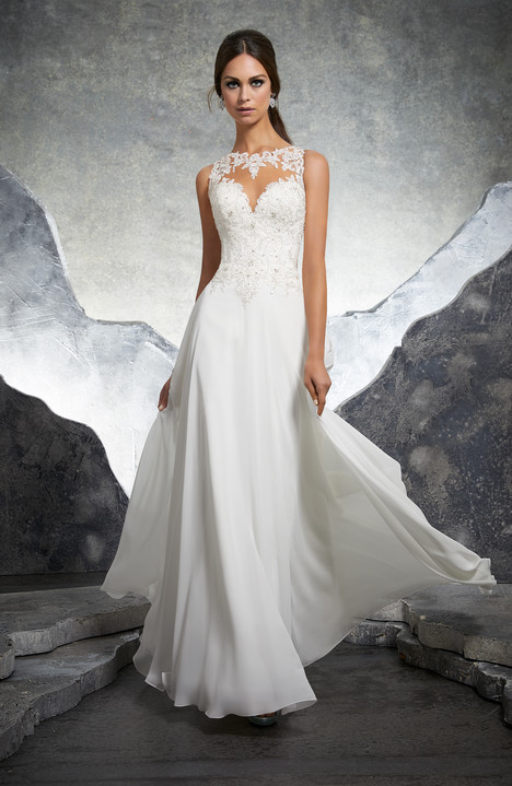 5606= Wedding                                          dress by Mori Lee: Blu