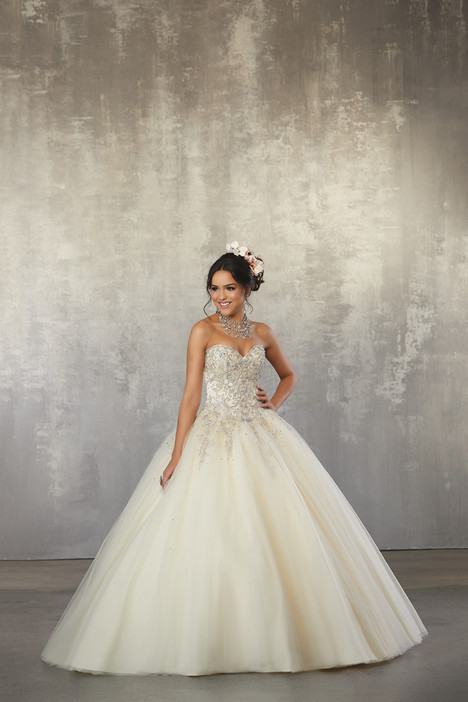 60035 (Champagne) gown from the 2018 Morilee Valencia collection, as seen on dressfinder.ca