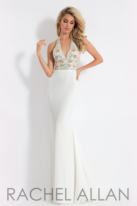 6008 (White) Prom                                             dress by Rachel Allan