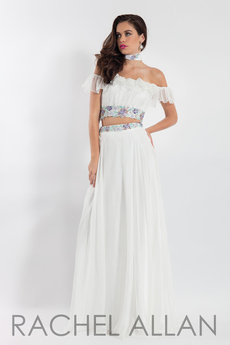 6010 (White) Prom                                             dress by Rachel Allan