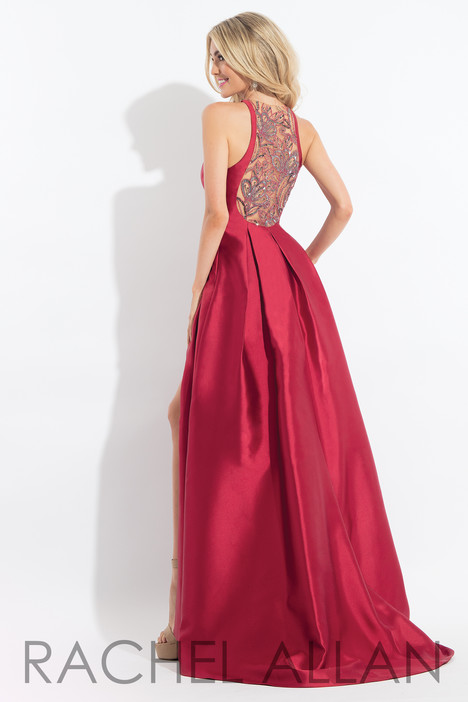 6024 (Red) (back) Prom dress by Rachel Allan