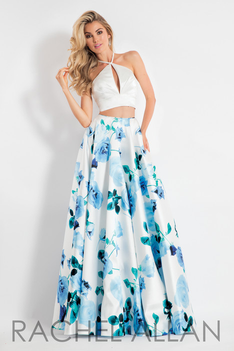 6028 (White & Blue) gown from the 2018 Rachel Allan collection, as seen on dressfinder.ca
