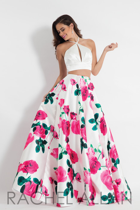 6028 (White & Pink) gown from the 2018 Rachel Allan collection, as seen on dressfinder.ca