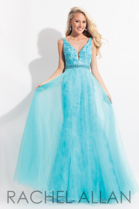 6039 (Turquoise) gown from the 2018 Rachel Allan collection, as seen on dressfinder.ca