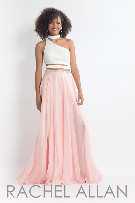 6045 (White & Blush) gown from the 2018 Rachel Allan collection, as seen on dressfinder.ca