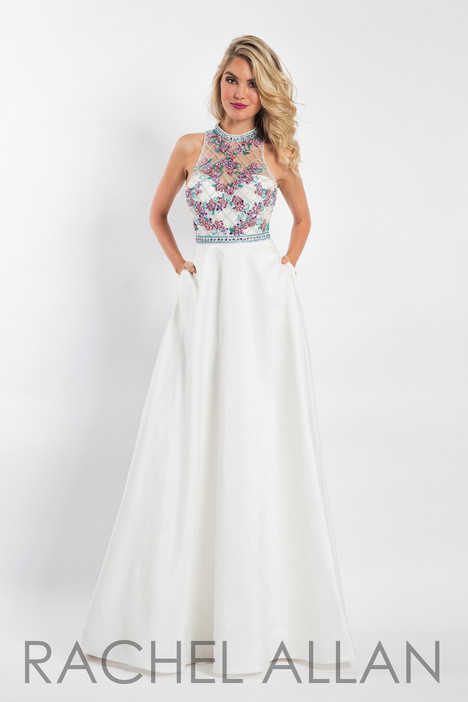 6051 (White) gown from the 2018 Rachel Allan collection, as seen on dressfinder.ca
