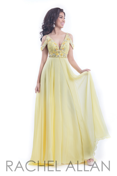 6054 (Yellow) gown from the 2018 Rachel Allan collection, as seen on dressfinder.ca