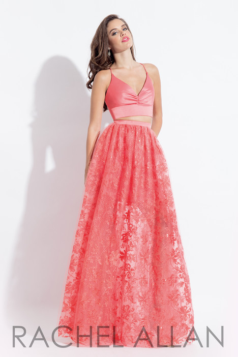 6055 (Coral) gown from the 2018 Rachel Allan collection, as seen on dressfinder.ca