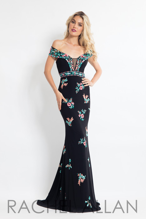 6056 (Black) gown from the 2018 Rachel Allan collection, as seen on dressfinder.ca
