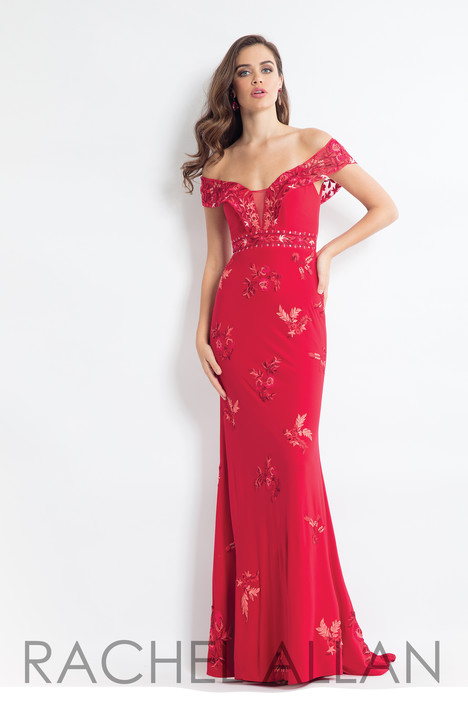 6056 (Red) gown from the 2018 Rachel Allan collection, as seen on dressfinder.ca