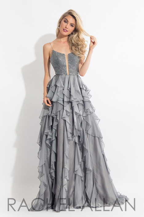 6092 (Grey) gown from the 2018 Rachel Allan collection, as seen on dressfinder.ca