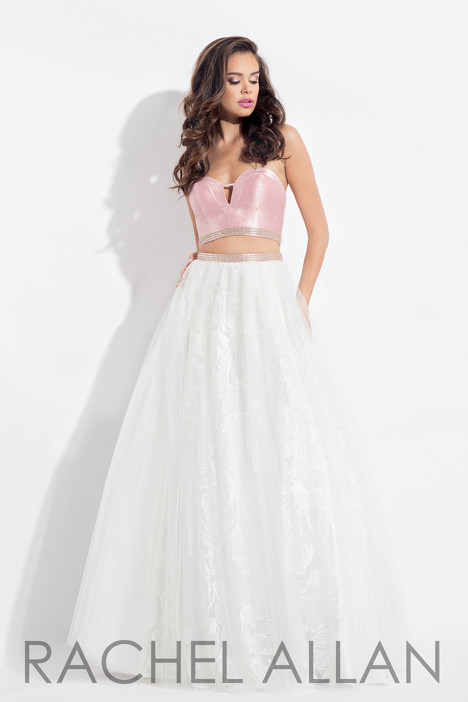 6096 (White & Blush) gown from the 2018 Rachel Allan collection, as seen on dressfinder.ca