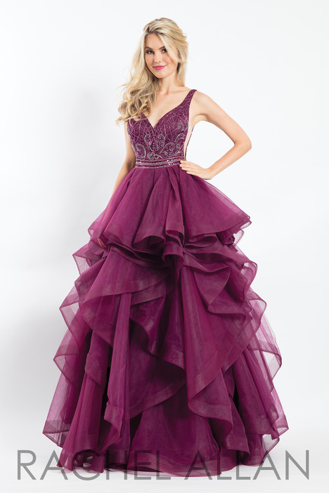 6101 (Aubergine) gown from the 2018 Rachel Allan collection, as seen on dressfinder.ca