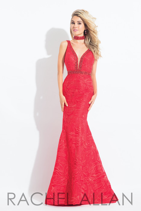 6106 (Red) gown from the 2018 Rachel Allan collection, as seen on dressfinder.ca