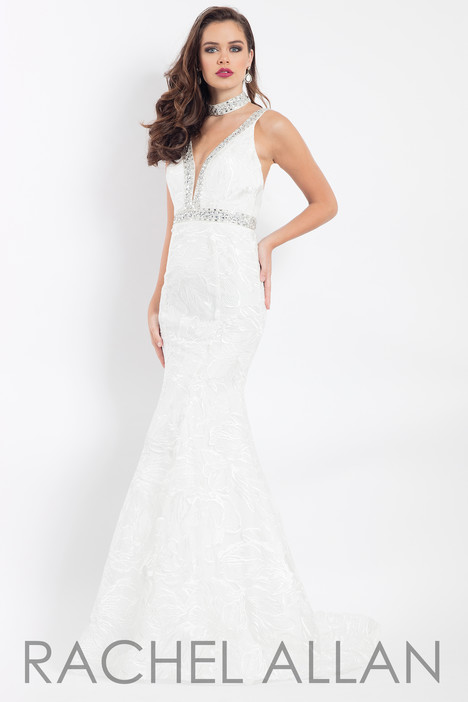 6106 (White) gown from the 2018 Rachel Allan collection, as seen on dressfinder.ca