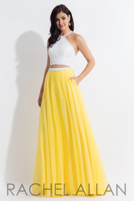 6112 (Yellow) gown from the 2018 Rachel Allan collection, as seen on dressfinder.ca