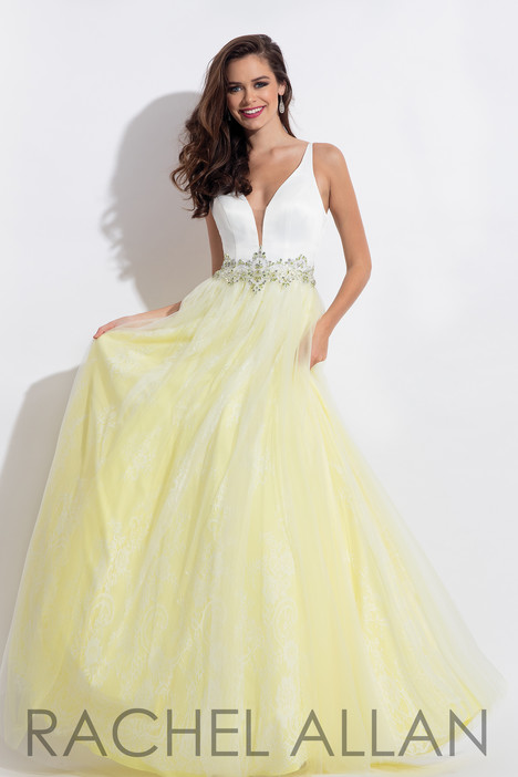 6114 (Yellow) Prom                                             dress by Rachel Allan