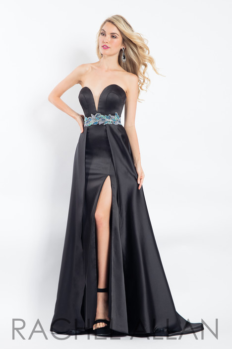 6115 (Black) gown from the 2018 Rachel Allan collection, as seen on dressfinder.ca
