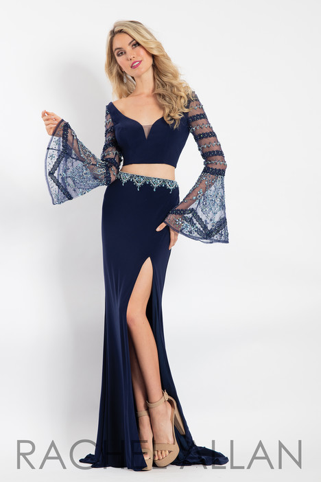 6122 (Navy) gown from the 2018 Rachel Allan collection, as seen on dressfinder.ca