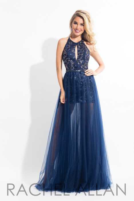 6135 (Navy) gown from the 2018 Rachel Allan collection, as seen on dressfinder.ca