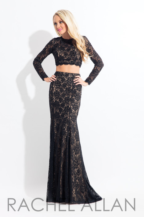 6153 (Black) gown from the 2018 Rachel Allan collection, as seen on dressfinder.ca