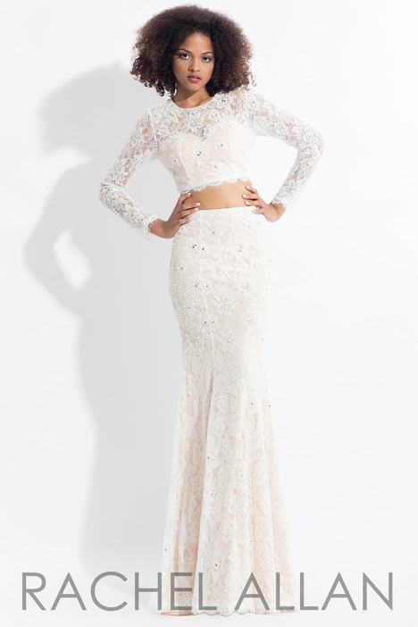 6153 (White) gown from the 2018 Rachel Allan collection, as seen on dressfinder.ca