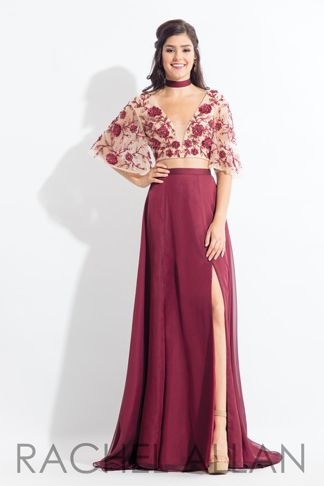 6157 (Aubergine) gown from the 2018 Rachel Allan collection, as seen on dressfinder.ca