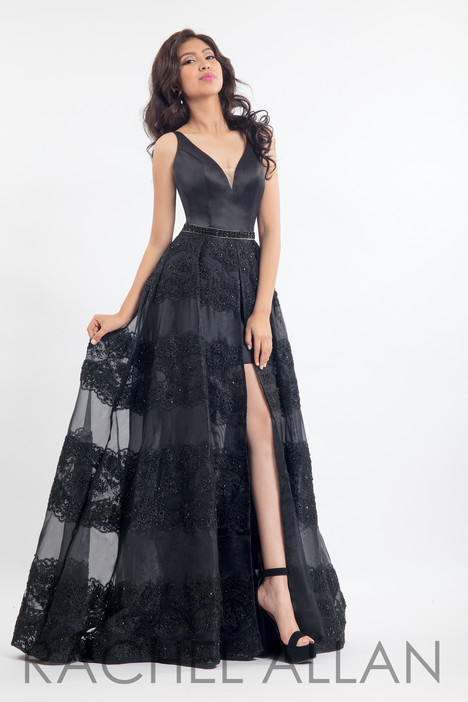 6159 (Black) gown from the 2018 Rachel Allan collection, as seen on dressfinder.ca