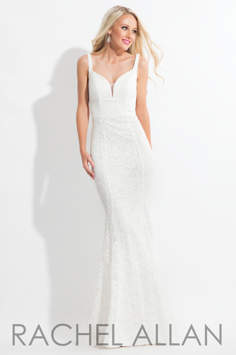 6168 (White) Prom dress by Rachel Allan