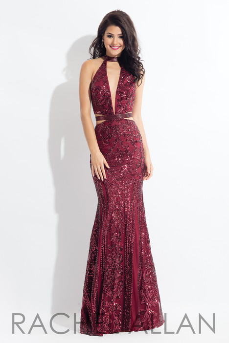 6179 (Aubergine) gown from the 2018 Rachel Allan collection, as seen on dressfinder.ca