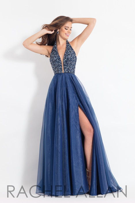 6187 (Navy) gown from the 2018 Rachel Allan collection, as seen on dressfinder.ca