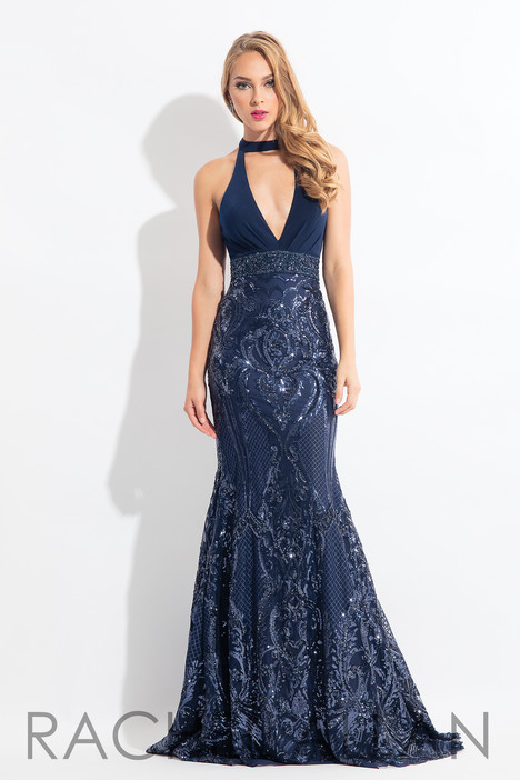 6190 (Navy) gown from the 2018 Rachel Allan collection, as seen on dressfinder.ca