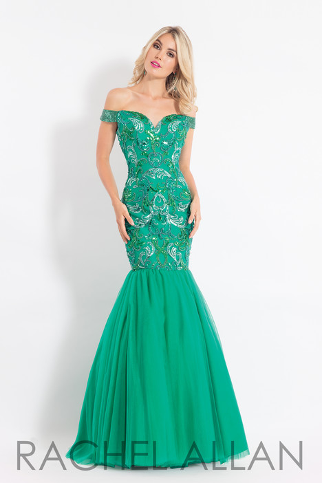 6193 (Emerald) gown from the 2018 Rachel Allan collection, as seen on dressfinder.ca