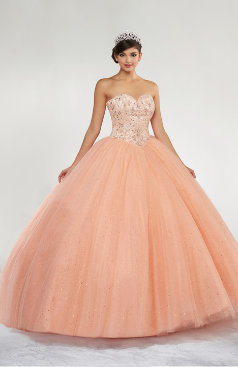 Q11802 (Peach) Prom dress by Princesa by Ariana Vara